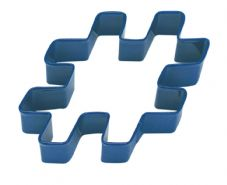 Blue Hashtag Cookie Cutter
